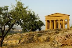 TEMPLE OF CONCORDIA in Agrigento, Sicily. Due to its good state of preservation, the Temple of Concordia is ranked amongst the most notable edifices of the Greek civilization existing today.  // PHOTO BY JEAN-MICHEL BAUD