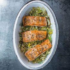 Salmon with Leeks, Fennel & Lemon   Williams Sonoma