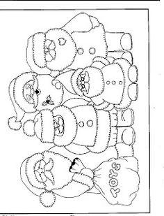 Kleurplaat kerstmannen