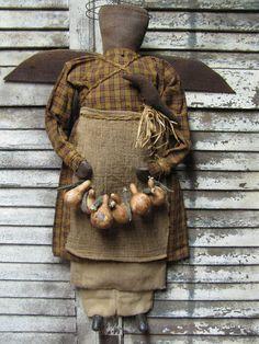 Olde Harvest Angel by Folk Artist Sue Corlett. New items available every Sunday!