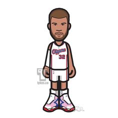 """Blake Griffin Los Angeles Clippers """"Back to Work"""" Tyke. After missing more than a month BG was back on the court (March 15th) and is looking to quickly round into form for what he hopes will be an epic playoff run. BG's Tyke is wearing the Jordan """"Super.Fly 3"""" kicks. #BlakeGriffin #LAClippers #Clippers #LobCity #JordanBrand #AirJordan #basketball #NBA #tyke #tykes #MyTyke www.tykes.co"""