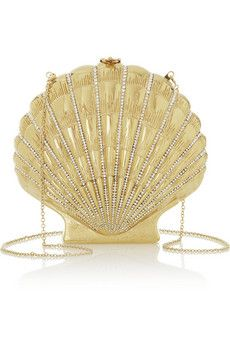 Charlotte Olympia Shell Shocked gold-tone clutch | NET-A-PORTER. made in Italy. I want one..and I want one NOW!! what can i say? I'm truly shell shocked...love it!!!