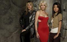 Cylon models # 3 (Lucy Lawless), #6 (Tricia Helfer), #8  (Grace Park)        Battlestar Galactica
