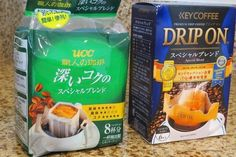 As I mentioned in my previous entry ,my husbandpurchased thesetwopackages of Japanese drip coffee bags at supermarket when he was...