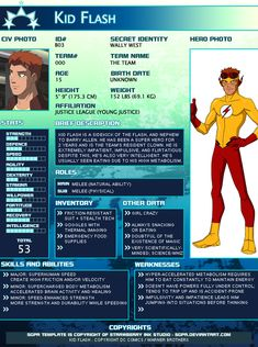 February 19, 2012 I thought this would be fun to do and show everybody! Here is Robin from Young Justice adapted into an SGPA Template as an example! I have no idea about the actual height and weig...