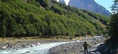 A trilha para as Torres del Paine