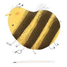 """Busy bee"" by Ina Hattenhauer Art And Illustration, Bugs, Kitty Crowther, Kids Graphics, Save The Bees, Busy Bee, Woodland Animals, Character Inspiration, Print Patterns"