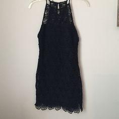Crochet Dress Like new black crochet mini dress perfect for a night out. Price is firm Love Culture Dresses Mini