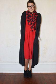 Lularoe Amelia dress with lularoe Sarah Cardigan for a beautiful warm winter look!