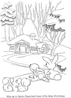 from little miss christmas and santa coloring book