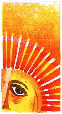 Clare Melinsky | Illustrator | Central Illustration Agency #illustration #print #printmaking #sun #linocut Illustration, Print Making, Linocut, Color Theory, Summer Wallpaper, Linocut Prints, Ink, Prints, Illustration Print
