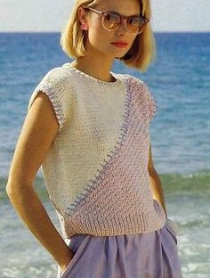 "Lady's Sleeveless Sweater 30-40"" ~ Vintage Knitting Pattern Wendy 2436"