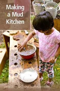 Author and ECE professor Mary Rivkin dscribes the benefits of mud kitchen play and how to introduce it in your setting. Read it here. Outdoor Learning Spaces, Mud Kitchen, Learning Activities, Professor, Mary, Author, Teaching, Education, How To Make