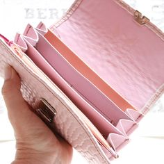 rosa leder portemonnaie
