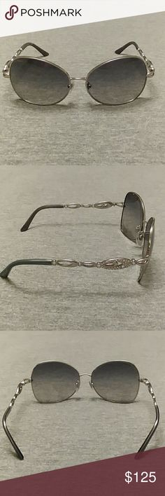 f4ceb5d3f42a Bvlgari sunglasses silver frames crystals details Very lightly used Bvlgari  sunglasses