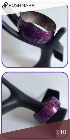 Purple Animal Print Bracelet Animal print purple metal bracelet Boutique Jewelry Bracelets