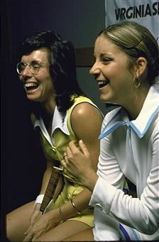Billie Jean King and Chris Evert