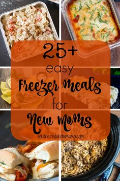 One thing you need to do before baby arrives is make these 25 easy freezer meals! Spend your time cuddling that new baby instead of in the kitchen! Decor Style Home Decor Style Decor Tips Maintenance home Freezable Meals, Freezer Friendly Meals, Make Ahead Freezer Meals, Freezer Cooking, Easy Meals, Crockpot Freezer Meals, Vegetarian Freezer Meals, Freezer Recipes, Baby Food Recipes