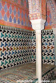 Azueljos en los baños, Alhambra, Granada