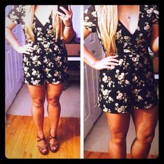 Floral romper Beautiful, lightweight romper.  Can easily be transitioned into the fall.  Hidden side zipper with a sheer back. Forever 21 Dresses