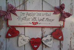 heart Family Tree | Family Tree Gift Plaque - 5 Hearts
