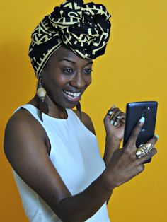 But first let me take a selfie. :)  Shop Minuit and other headwraps by hitting the link in the bio.  #headwraps #headwrapswag #blackandbeautiful #blackqueen #afrocentric #afrocentricfashion #ankara #africanprint #africanfashion #africaninspired #ankarafashion #ankara #kitenge #brownskinbeauty #naturalhair #kinkyhair #protectivestyle #summerfashion #springfashion #selfie #selfielove #butfirstletmetakeaselfie