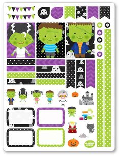 New product: Franken Family De...! Get it here: http://www.plannerpenny.com/products/franken-family-decorating-kit-weekly-spread-planner-stickers?utm_campaign=social_autopilot&utm_source=pin&utm_medium=pin