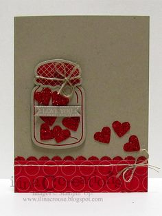 My Creations: Sectioned Pop Up Heart Cannery card