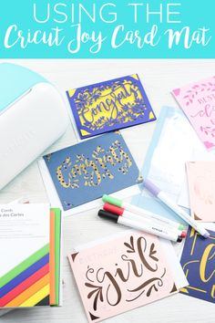 Using the Cricut Joy card mat to make handmade cards is so easy! This new Cricut mat will have you making cards for every occasion! Cricut Mat, Cricut Craft Room, Cricut Cards, Card Making Tips, Making Cards, Diy For Teens, Diy For Kids, Cricut Tutorials, Cricut Ideas