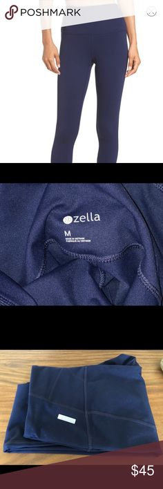 Zella live in high waist leggings Super comfortable & versatile Zella high waist leggings.  Worn once & in like new condition.  Navy blue Zella Pants Leggings Live, High Waist, Black Jeans, Navy Blue, Leggings Are Not Pants