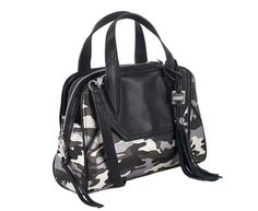 Madison Swagger Satchel, Camo Metallic
