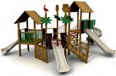VG5206A - 2 Kuleli Ahşap Çatılı Spiral Düz Kaydırak | Ahşap Çocuk Oyun Parkları | Ahşap Oyun Grupları | Çocuk Oyun Parkları | Doapark