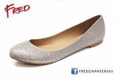 #FredZapaterias Flats, CoffiDu, color plata brillante https://www.facebook.com/fred.zapaterias