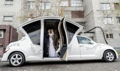 Russian PT Cruiser wedding limo photos