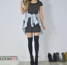 23 Casual Office Attire to Try Right Now, You can collect images you discovered organize them, add your own ideas to your collections and share with other people. Tshirt Dress Outfit, Black Dress Outfits, Girly Outfits, Outfits For Teens, Trendy Outfits, Fall Outfits, Casual Dresses, Cute Outfits, Fashion Outfits
