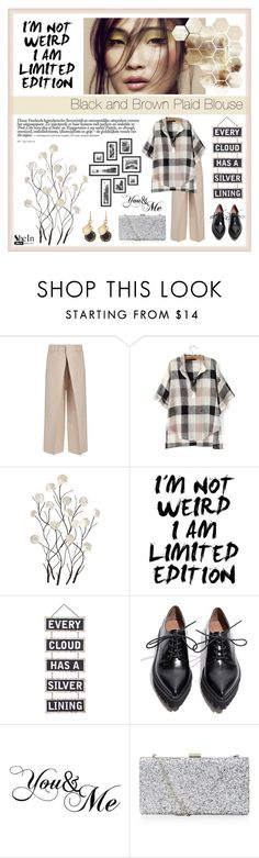 """SheIn Plaid Skirt"" by jane-doglover ❤ liked on Polyvore featuring Joseph, Universal Lighting and Decor, Dot & Bo, Jeffrey Campbell and Marc by Marc Jacobs"