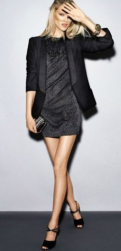 LBD + black blazer