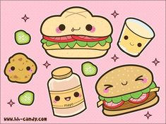 Kawaii Cake Slices by by A-Little-Kitty on deviantART! Description from pinterest.com. I searched for this on bing.com/images
