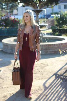 Burgundy Maxi, Fall Outfit | She Said He Said