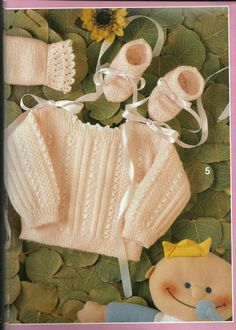 Baby Patterns, Baby Knitting, Knit Crochet, Reusable Tote Bags, Teddy Bears, Knitting Baby Girl, Knitting Patterns Baby, Knit Baby Dress, Tricot