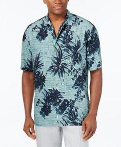 Tommy Bahama Men's Bamboo Island Silk Shirt - Blue 3XL