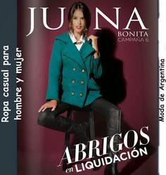 Catalogo de Juana Bonita Junio 2015 Liquidacion de abrigos y de ropa de moda.