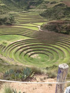 Moray Sacred Valley in Peru, Incan agricultural terraces from 1500. Each layer of the three bowls has its own micro-climate, according to how deep into the bowl it is. For this reason, some theorize that the Incas used them as a kind of laboratory to determine the optimal conditions for growing crops of each species.