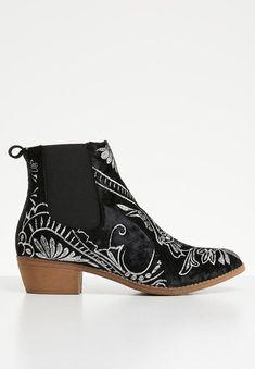 Cowboy ankle boot - black Jada Boots | Superbalist.com Jada, Black Ankle Boots, Two By Two, Footwear, Booty, Heels, How To Wear, Winter, Women