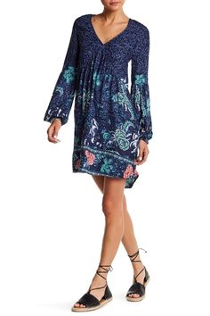 Clearest Melody Paisley Babydoll Dress by Billabong on @nordstrom_rack