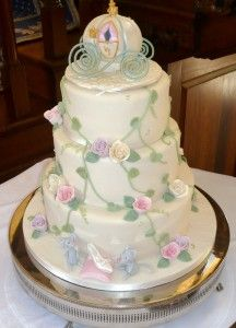 Cake, cake, cake, cake, cake, cake with a little magic at the top for a happily ever after!