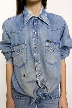 The Workwear Lee Button Up Denim Shirt --> http://shop.denimrefinery.com/product/sd