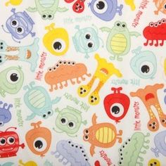 Tkanina PUL Monsters- kupon 28 x 160cm