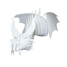 Our Cardboard Dragon Head will brighten your life with a touch of magic and fantasy. Nikita is made of environmentally friendly, recycled cardboard. Cardboard Animals, Teen Lounge, Hangout Room, Dragon Head, Cardboard Furniture, White Dragon, Boys Room Decor, New Living Room, Nursery Inspiration