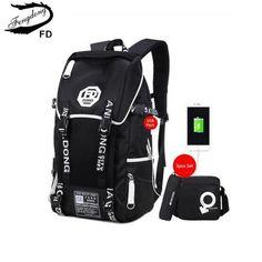 7a81a37907 Fengdong 3 Pcs Big Size Black Waterproof Backpack Men School Bag Set High  School Backpacks For Boys One Shoulder Bookbag Pen Bag